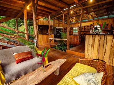 Photo for Private Waterfall Ecolodge Glamping Tent with Jungle View