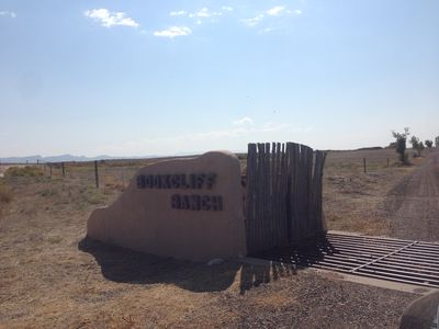 The entrance to The Bookcliff Ranch Casita