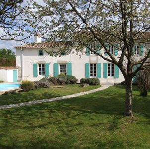 Photo for Charming Period House With Private Heated Pool Nr St Jean D'angely, Charente