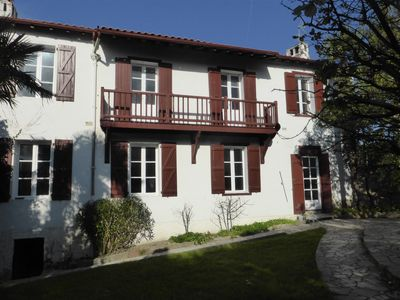 Photo for Basque 140-m² house over two levels with a peaceful garden terrace