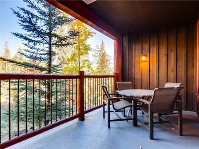 Photo for Luxury condo nestled in the pines with outdoor pool & hot tubs, hiking trails nearby