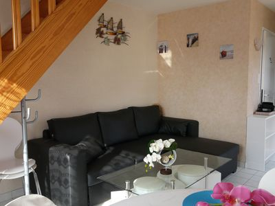 Photo for Apartment 200m From The Beach with small sea view from the 1st floor