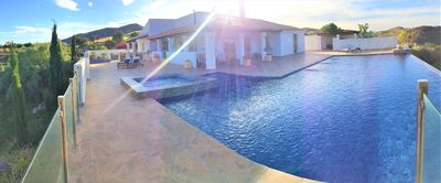 Photo for Luxury villa 5 bed 3 bath inc separate annex infinity pool/hot tub, games area.