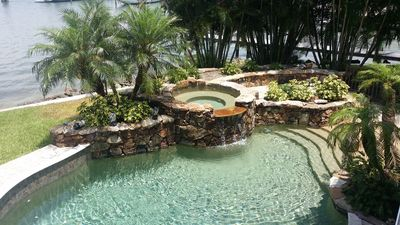 Photo for ██ Tropical Island Hacienda ██ Bayfront Luxury Estate with Exotic Pool & Hot Tub