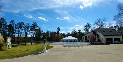 One of the many set-up options for a wedding at The Seahorse.
