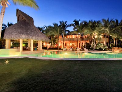 Photo for SPECTACULAR BEACHFRONT VILLA IN LUXURY PUNTA CANA RESRT AND CLUB
