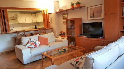 Photo for Cozy ground floor with garden in the center of Jaca. 95 m