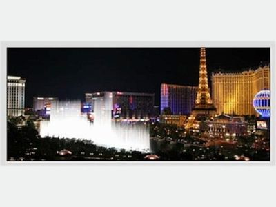 View of the Bellagio Water Show from the north side condos
