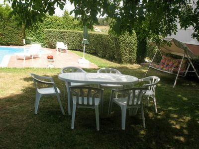 Photo for Nice apartment for 5 guests with private pool, WIFI, TV, balcony and parking