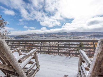 Snow Views - Enjoy the first snowfall right from the balcony of Above the Clouds II.