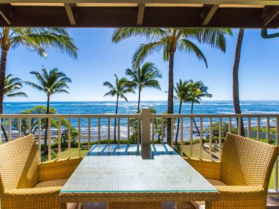 Photo for Kapaa Shore Resort #305, Oceanfront, Near Shops, Restaurants & Beaches