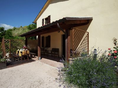 Photo for Farmhouse in Cagli with Swimming Pool, Garden, BBQ, Heating