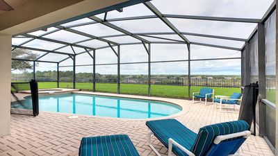 Photo for Stunning Sunset View Villa w/ Pool/Theater, No rear neighbor, 3 miles to Disney