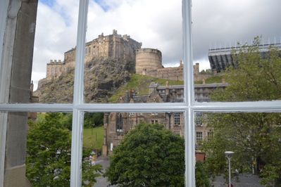 Castle view from apartment window