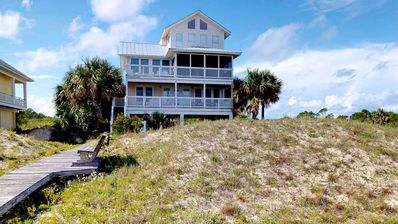 """Photo for Ready after Hurricane Michael! FREE BEACH GEAR! Beachfront Plantation, Pets, Pool, Private Boardwalk, 3BR/3.5BA """"Watercolor"""""""