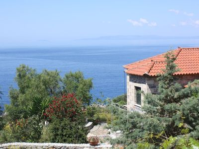 Photo for Dreamlike located, directly at the sea: holiday apartment with wifi in Messenia,