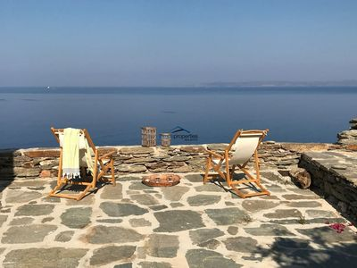 Photo for The Rock Villa with a fantastic sea and sunset view near the beach of Xyla