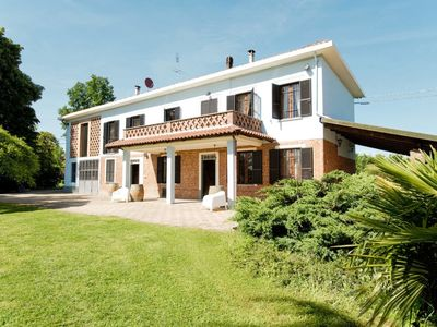 Photo for San Giacomo Vercellese Holiday Home, Sleeps 7 with Pool, Air Con and Free WiFi