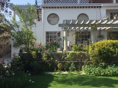 Terraces and pergolas for your enjoyment, with beautiful large garden