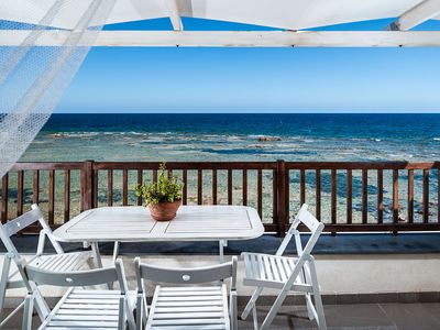 Photo for SEAFRONT apartment in Marzamemi, panoramic terrace, WIFI, close to beach&bars