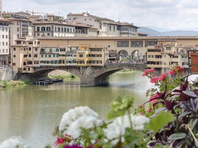 Historical Apartment Spectacular Arno View with Balcony from 12 th Century .
