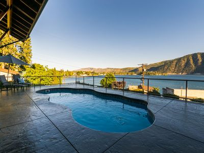 Photo for Lake Chelan View Property with Private Pool and Hot Tub Overlooking Manson Bay!