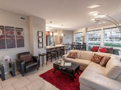 Photo for Breathtaking Ground-Floor Waterfront 2BR/2BA Luxury Condo