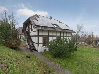 Photo for Beautiful apartment in a half-timbered house with breathtaking panorama view