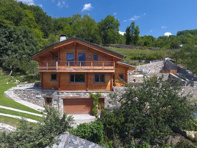 Photo for Beautiful Savoie chalet on sunny side and face to Les Arcs and La Plagne