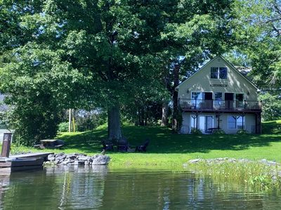 Photo for Lakeside house on Webber Pond with small beach and wonderful views.