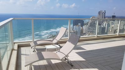 Photo for Super luxury 6-rooms penthouse on David Tower-first beach line of Netanya