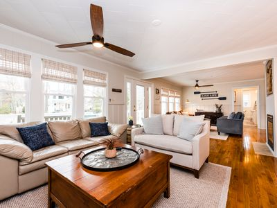 Photo for AUGUST WEEKS OPEN!  UNION PIER HOME WITH PRIVATE ASSOCIATION BEACH ACCESS & HOT TUB!