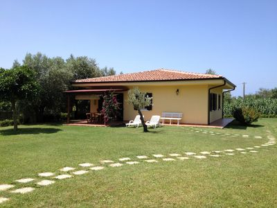 Photo for new villa with pool, surrounded by greenery near the sea