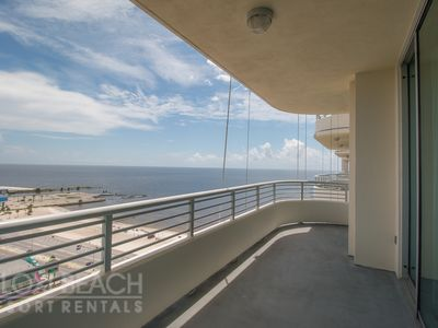 Photo for Balcony Gulf Views Condo w/ WiFi, Balcony, Resort Gym & Pool Access