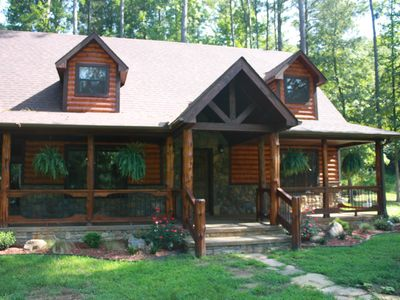 Photo for Luxury cabin on Mountain Fork river offering Spring discounts.