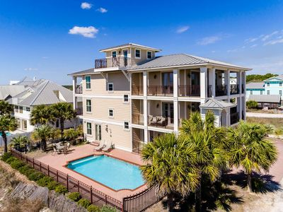 Photo for Spectacular 7BR Beach House w/ Private Pool - Panoramic Gulf Views!