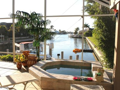Photo for Tigertail Beach Waterfront Home, Marco Island w/ Dock/Pool/Spa/Outdoor Kitchen.