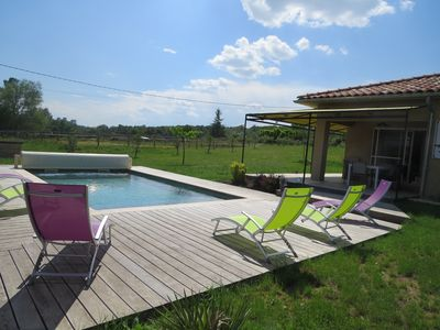 Photo for Villa private pool 3 bedrooms, 6/7 people near Gorges de l'Ardèche