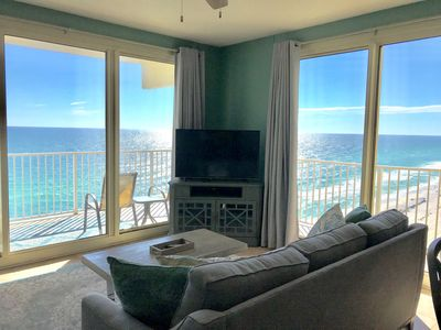 Photo for Just remodeled! Corner unit INCREDIBLE VIEWS! Gulf front master