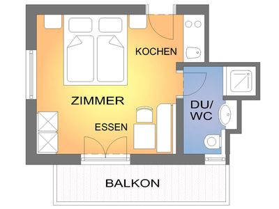 Photo for Comfort room with balcony - Brugger Rosa, apartments