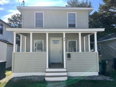 Photo for Steps to the beach! Family beach house with A/C. Less than a mile to the Pier.