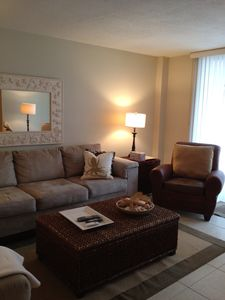Living room. Sectional sleeper sofa. Queen size. TV, DVD