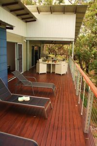 The huge 18m x 3.6m deck has plenty of room for everyone to spread out enjoy