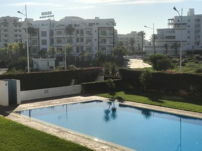 Photo for Luxury flat with pool close to the beach + WIFI