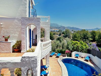 Photo for This 5-bedroom villa for up to 9 guests is located in Nerja and has a private swimming pool, air-con