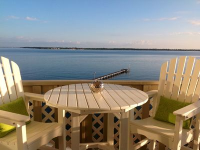 Photo for Renovated with contemporary decor, with gorgeous views right on the water!
