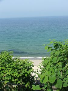 Photo for Cottage hi on Bluffs, on private Beach, Breathtaking views of Cape Cod Bay/PTown