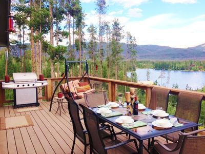 Photo for Beautiful Cozy Cabin with 180 Degree Breathtaking Lake and Mountain Views!