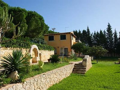 Photo for Sicily at its best: Beautiful Villa Gialla with pool, close to sandy beaches