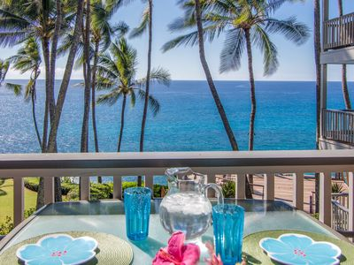 Photo for Oceanfront, Palm Trees and the Beautiful Blue Pacific Ocean...Poipu Palms 202!